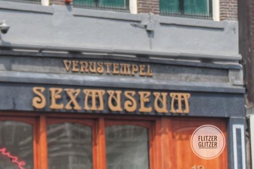 Das Bild zeigt das Sexmuseum, genannt Venustempel, in Amsterdam