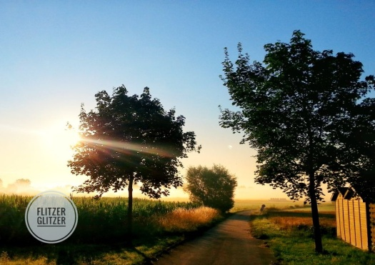 Sonnenaufgang auf dem Land